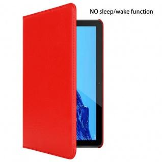 """"""" Cadorabo Tablet Hülle für Huawei MediaPad T5 10 (10, 1"""" Zoll) in MOHN ROT ? Book Style Schutzhülle OHNE Auto Wake Up mit Standfunktion und Gummiband Verschluss"""" - Vorschau 3"""
