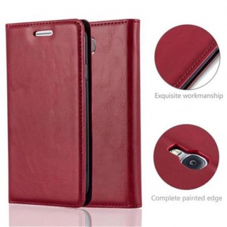 Cadorabo Hülle für Samsung Galaxy S4 in APFEL ROT - Handyhülle mit Magnetverschluss, Standfunktion und Kartenfach - Case Cover Schutzhülle Etui Tasche Book Klapp Style - Vorschau 2