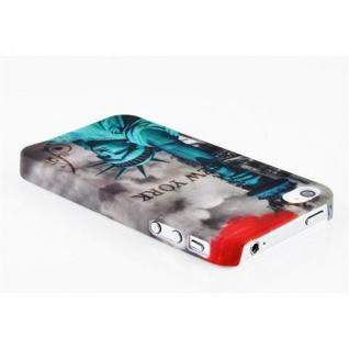 Cadorabo - Hard Cover für Apple iPhone 4 / iPhone 4S - Case Cover Schutzhülle Bumper im Design: NEW YORK - FREIHEITSSTATUE - Vorschau 2