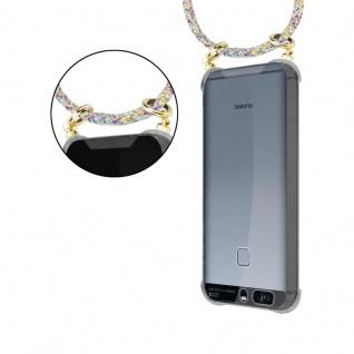 Cadorabo Handy Kette für Huawei P9 in RAINBOW - Silikon Necklace Umhänge Hülle mit Gold Ringen, Kordel Band Schnur und abnehmbarem Etui ? Schutzhülle - Vorschau 5