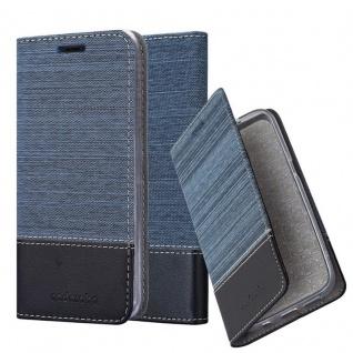 Cadorabo Hülle für Huawei MATE 20 LITE in DUNKEL BLAU SCHWARZ - Handyhülle mit Magnetverschluss, Standfunktion und Kartenfach - Case Cover Schutzhülle Etui Tasche Book Klapp Style