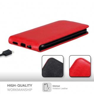 Cadorabo Hülle für OnePlus 5T in APFEL ROT Handyhülle im Flip Design mit Magnetverschluss Case Cover Schutzhülle Etui Tasche Book Klapp Style - Vorschau 2