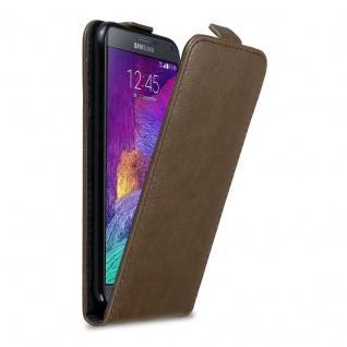 Cadorabo Hülle für Samsung Galaxy NOTE 4 in KAFFEE BRAUN - Handyhülle im Flip Design mit unsichtbarem Magnetverschluss - Case Cover Schutzhülle Etui Tasche Book Klapp Style