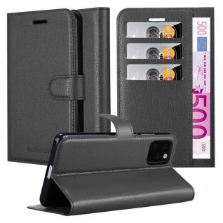 Cadorabo Hülle für Apple iPhone 11 PRO MAX (XI PRO MAX) in PHANTOM SCHWARZ - Handyhülle mit Magnetverschluss, Standfunktion und Kartenfach - Case Cover Schutzhülle Etui Tasche Book Klapp Style