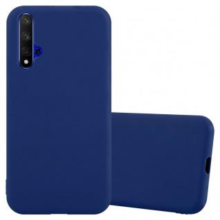 Cadorabo Hülle für Honor 20 / 20s / Huawei Nova 5t in CANDY DUNKEL BLAU Handyhülle aus flexiblem TPU Silikon Silikonhülle Schutzhülle Ultra Slim Soft Back Cover Case Bumper