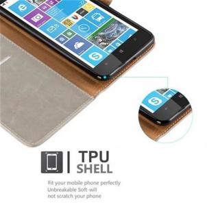 Cadorabo Hülle für Nokia Lumia 1320 in CAPPUCCINO BRAUN ? Handyhülle mit Magnetverschluss, Standfunktion und Kartenfach ? Case Cover Schutzhülle Etui Tasche Book Klapp Style - Vorschau 4
