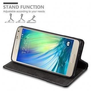 Cadorabo Hülle für Samsung Galaxy A5 2015 in SCHWARZ BRAUN - Handyhülle mit Magnetverschluss, Standfunktion und Kartenfach - Case Cover Schutzhülle Etui Tasche Book Klapp Style - Vorschau 5