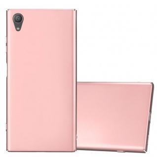 Cadorabo Hülle für Sony Xperia XA1 PLUS in METALL ROSÉ GOLD - Hardcase Handyhülle aus Plastik gegen Kratzer und Stöße - Schutzhülle Bumper Ultra Slim Back Case Hard Cover