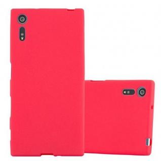 Cadorabo Hülle für Sony Xperia XZ / XZs in FROST ROT - Handyhülle aus flexiblem TPU Silikon - Silikonhülle Schutzhülle Ultra Slim Soft Back Cover Case Bumper