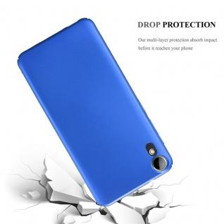 Cadorabo Hülle für HTC Desire 10 Lifestyle / Desire 825 in METALL BLAU ? Hardcase Handyhülle aus Plastik gegen Kratzer und Stöße ? Schutzhülle Bumper Ultra Slim Back Case Hard Cover - Vorschau 3