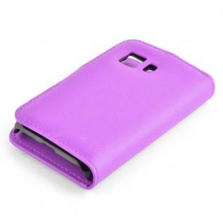 Cadorabo Hülle für Samsung Galaxy YOUNG 2 in MANGAN VIOLETT - Handyhülle mit Magnetverschluss, Standfunktion und Kartenfach - Case Cover Schutzhülle Etui Tasche Book Klapp Style - Vorschau 2