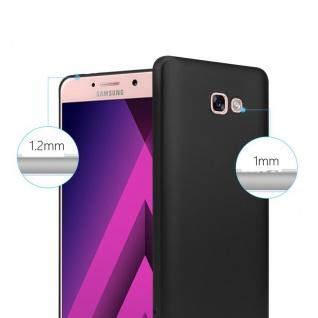 Cadorabo Hülle für Samsung Galaxy A7 2017 in METALLIC SCHWARZ - Handyhülle aus flexiblem TPU Silikon - Silikonhülle Schutzhülle Ultra Slim Soft Back Cover Case Bumper - Vorschau 4