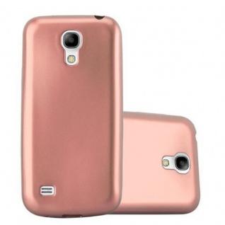 Cadorabo Hülle für Samsung Galaxy S4 in METALLIC ROSE GOLD Handyhülle aus flexiblem TPU Silikon Silikonhülle Schutzhülle Ultra Slim Soft Back Cover Case Bumper