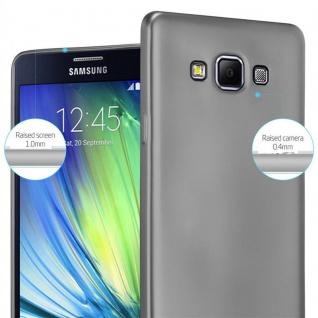 Cadorabo Hülle für Samsung Galaxy A7 2015 in METALLIC GRAU - Handyhülle aus flexiblem TPU Silikon - Silikonhülle Schutzhülle Ultra Slim Soft Back Cover Case Bumper - Vorschau 4