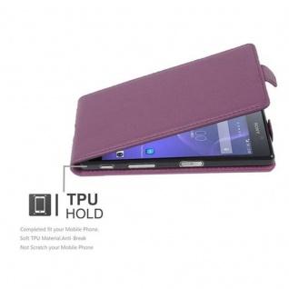 Cadorabo Hülle für Sony Xperia X in BORDEAUX LILA - Handyhülle im Flip Design aus strukturiertem Kunstleder - Case Cover Schutzhülle Etui Tasche Book Klapp Style - Vorschau 2