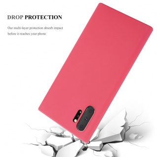 Cadorabo Hülle für Samsung Galaxy NOTE 10 PLUS in CANDY ROT - Handyhülle aus flexiblem TPU Silikon - Silikonhülle Schutzhülle Ultra Slim Soft Back Cover Case Bumper - Vorschau 5