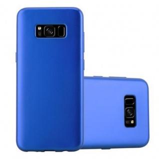 Cadorabo Hülle für Samsung Galaxy S8 in METALLIC BLAU Handyhülle aus flexiblem TPU Silikon Silikonhülle Schutzhülle Ultra Slim Soft Back Cover Case Bumper