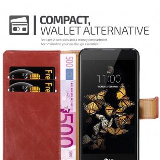 Cadorabo Hülle für LG K8 2016 in WEIN ROT ? Handyhülle mit Magnetverschluss, Standfunktion und Kartenfach ? Case Cover Schutzhülle Etui Tasche Book Klapp Style - Vorschau 5