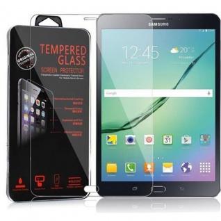 Cadorabo Panzer Folie für Samsung Galaxy Tab S2 (8 Zoll) - Schutzfolie in KRISTALL KLAR - Gehärtetes (Tempered) Display-Schutzglas in 9H Härte mit 3D Touch Kompatibilität
