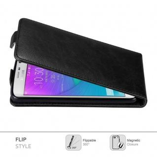 Cadorabo Hülle für Samsung Galaxy NOTE EDGE in NACHT SCHWARZ - Handyhülle im Flip Design mit unsichtbarem Magnetverschluss - Case Cover Schutzhülle Etui Tasche Book Klapp Style - Vorschau 2