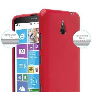 Cadorabo Hülle für Nokia Lumia 1320 in JELLY ROT - Handyhülle aus flexiblem TPU Silikon - Silikonhülle Schutzhülle Ultra Slim Soft Back Cover Case Bumper - Vorschau 5