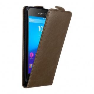 Cadorabo Hülle für Sony Xperia M5 in KAFFEE BRAUN - Handyhülle im Flip Design mit unsichtbarem Magnetverschluss - Case Cover Schutzhülle Etui Tasche Book Klapp Style