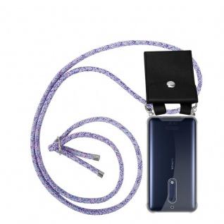 Cadorabo Handy Kette für Nokia 5 2017 in UNICORN Silikon Necklace Umhänge Hülle mit Silber Ringen, Kordel Band Schnur und abnehmbarem Etui Schutzhülle