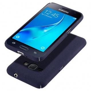 Cadorabo Hülle für Samsung Galaxy J1 2016 in FROSTY BLAU - Hardcase Handyhülle aus Plastik gegen Kratzer und Stöße - Schutzhülle Bumper Ultra Slim Back Case Hard Cover - Vorschau 4