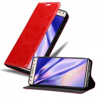 Cadorabo Hülle für Alcatel 5 in APFEL ROT Handyhülle mit Magnetverschluss, Standfunktion und Kartenfach Case Cover Schutzhülle Etui Tasche Book Klapp Style