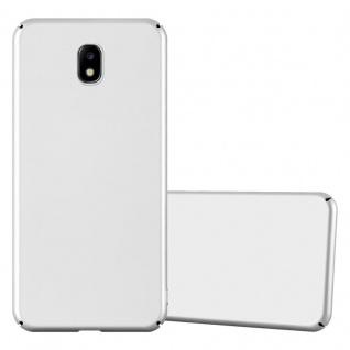 Cadorabo Hülle für Samsung Galaxy J7 2017 in METALL SILBER Hardcase Handyhülle aus Plastik gegen Kratzer und Stöße Schutzhülle Bumper Ultra Slim Back Case Hard Cover