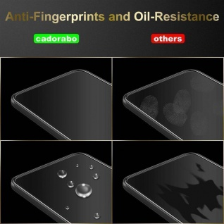 Cadorabo 3x Vollbild Panzer Folie für Samsung Galaxy A3 2016 - Schutzfolie in TRANSPARENT mit SCHWARZ - 3er Pack Gehärtetes (Tempered) Display-Schutzglas in 9H Härte mit 3D Touch - Vorschau 5