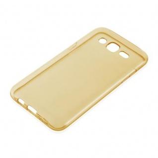 Cadorabo Hülle für Samsung Galaxy J5 2015 in TRANSPARENT GOLD - Handyhülle aus flexiblem TPU Silikon - Silikonhülle Schutzhülle Ultra Slim Soft Back Cover Case Bumper - Vorschau 2