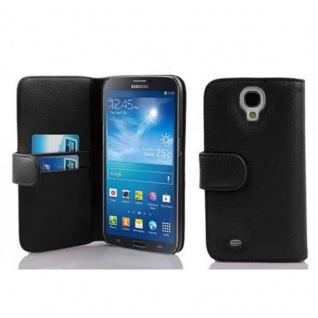 Cadorabo Hülle für Samsung Galaxy MEGA 6.3 in OXID SCHWARZ ? Handyhülle aus strukturiertem Kunstleder mit Standfunktion und Kartenfach ? Case Cover Schutzhülle Etui Tasche Book Klapp Style