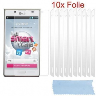 Cadorabo Displayschutzfolien für LG G2 - Schutzfolien in HIGH CLEAR ? 10 Stück hochtransparenter Schutzfolien gegen Staub, Schmutz und Kratzer