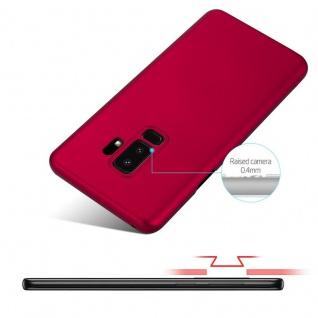 Cadorabo Hülle für Samsung Galaxy S9 PLUS in METALL ROT - Hardcase Handyhülle aus Plastik gegen Kratzer und Stöße - Schutzhülle Bumper Ultra Slim Back Case Hard Cover - Vorschau 4