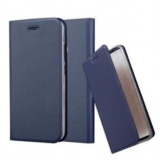 Cadorabo Hülle für Xiaomi Mi A1 / 5X in CLASSY DUNKEL BLAU - Handyhülle mit Magnetverschluss, Standfunktion und Kartenfach - Case Cover Schutzhülle Etui Tasche Book Klapp Style