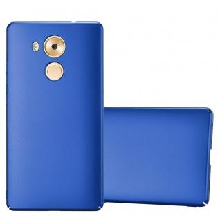 Cadorabo Hülle für Huawei MATE 8 in METALL BLAU Hardcase Handyhülle aus Plastik gegen Kratzer und Stöße Schutzhülle Bumper Ultra Slim Back Case Hard Cover