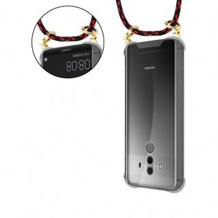 Cadorabo Handy Kette für Huawei MATE 10 PRO in SCHWARZ ROT - Silikon Necklace Umhänge Hülle mit Gold Ringen, Kordel Band Schnur und abnehmbarem Etui ? Schutzhülle - Vorschau 5