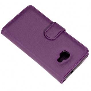 Cadorabo Hülle für Samsung Galaxy XCover 4 in BORDEAUX LILA ? Handyhülle mit Magnetverschluss und 3 Kartenfächern ? Case Cover Schutzhülle Etui Tasche Book Klapp Style - Vorschau 4
