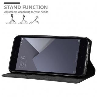 Cadorabo Hülle für Xiaomi RedMi NOTE 5A in NACHT SCHWARZ - Handyhülle mit Magnetverschluss, Standfunktion und Kartenfach - Case Cover Schutzhülle Etui Tasche Book Klapp Style - Vorschau 4