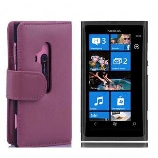 Cadorabo Hülle für Nokia Lumia 800 in ANTIK ROSA ? Handyhülle aus glattem Kunstleder mit Standfunktion und Kartenfach ? Case Cover Schutzhülle Etui Tasche Book Klapp Style
