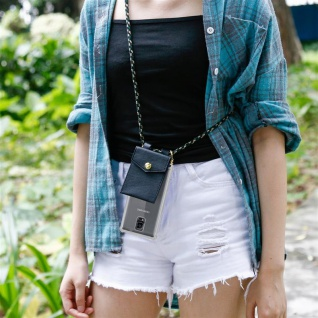 Cadorabo Handy Kette für Samsung Galaxy NOTE 4 in CAMOUFLAGE ? Silikon Necklace Umhänge Hülle mit Gold Ringen, Kordel Band Schnur und abnehmbarem Etui ? Schutzhülle - Vorschau 3