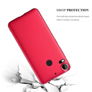 Cadorabo Hülle für HTC Desire 10 PRO in METALL ROT ? Hardcase Handyhülle aus Plastik gegen Kratzer und Stöße ? Schutzhülle Bumper Ultra Slim Back Case Hard Cover - Vorschau 3