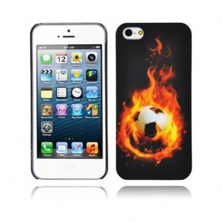 Cadorabo - Hard Cover für Apple iPhone 5 / iPhone 5S / iPhone SE - Case Cover Schutzhülle Bumper im Design: FOOTBALL