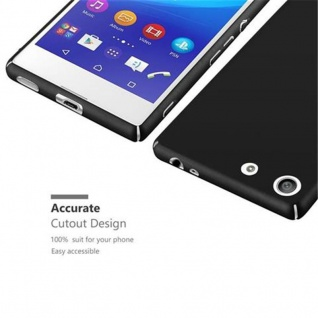 Cadorabo Hülle für Sony Xperia M5 in METALL SCHWARZ - Hardcase Handyhülle aus Plastik gegen Kratzer und Stöße - Schutzhülle Bumper Ultra Slim Back Case Hard Cover - Vorschau 3