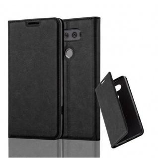 Cadorabo Hülle für LG V20 in NACHT SCHWARZ - Handyhülle mit Magnetverschluss, Standfunktion und Kartenfach - Case Cover Schutzhülle Etui Tasche Book Klapp Style