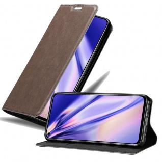 Cadorabo Hülle für Honor View 20 in KAFFEE BRAUN - Handyhülle mit Magnetverschluss, Standfunktion und Kartenfach - Case Cover Schutzhülle Etui Tasche Book Klapp Style