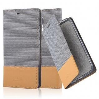 Cadorabo Hülle für Honor 5C in HELL GRAU BRAUN Handyhülle mit Magnetverschluss, Standfunktion und Kartenfach Case Cover Schutzhülle Etui Tasche Book Klapp Style