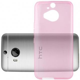 Cadorabo Hülle für HTC ONE M9 PLUS (3.Gen.) - Hülle in TRANSPARENT PINK ? Handyhülle aus TPU Silikon im Ultra Slim 'AIR' Design - Ultra Slim Soft Backcover Case Bumper