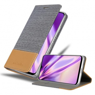 Cadorabo Hülle für Huawei P Smart 2020 in HELL GRAU BRAUN Handyhülle mit Magnetverschluss, Standfunktion und Kartenfach Case Cover Schutzhülle Etui Tasche Book Klapp Style